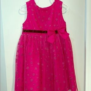 George Girls 4t pink sparkly dress